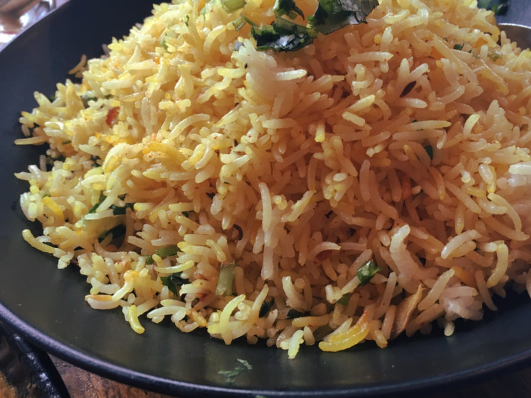 pulav rice flavored with caramelized onions recipe