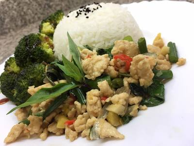 Thai Minced Chicken with Basil